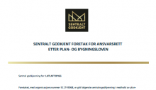 Central approval by the Norwegian building law